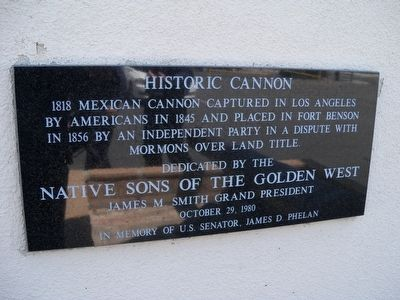 Historic Cannon Marker image. Click for full size.