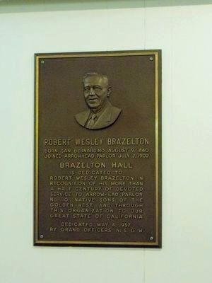 Robert Wesley Brazelton<br>(Located inside the meeting hall) image. Click for full size.