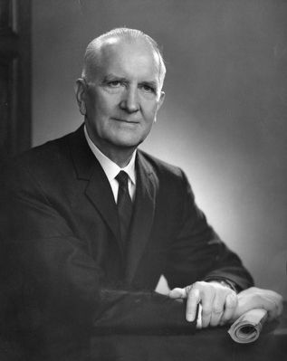 Dr. John L. Plyler, Furman University president (1939-1964) image. Click for full size.