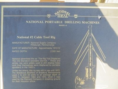 National Portable Drilling Machines Marker image. Click for full size.