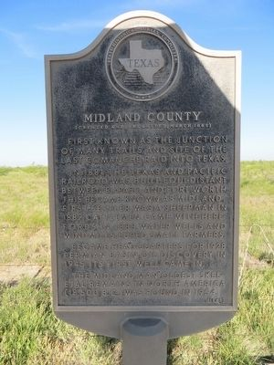 Midland County Marker image. Click for full size.