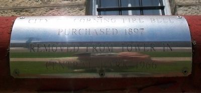 City of Corning Fire Bell Marker image. Click for full size.