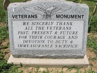 Asbury Veterans Monument Marker image. Click for full size.