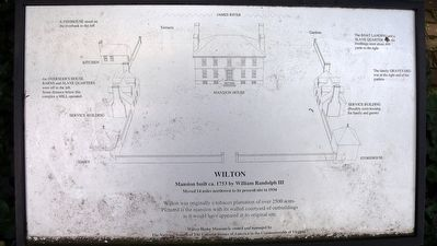 Diagram of Wilton plantation at the original site. image. Click for full size.