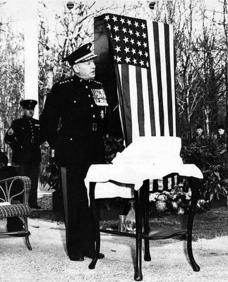 Belleau Wood Marine Memorial Dedication image. Click for full size.