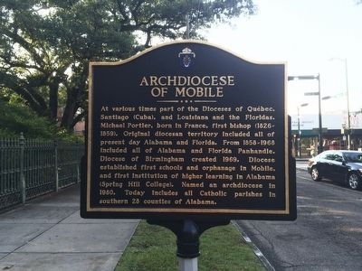 Archdiocese of Mobile Marker image. Click for full size.