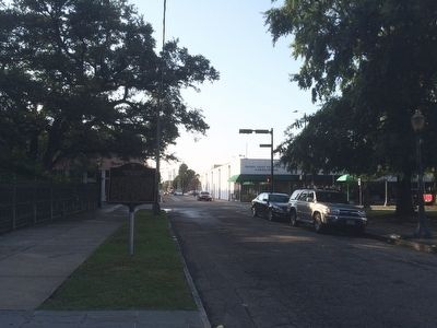 The view north towards Dauphin Street. image. Click for full size.