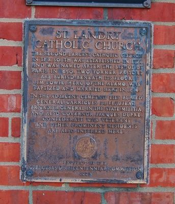 St. Landry Catholic Church Marker image. Click for full size.