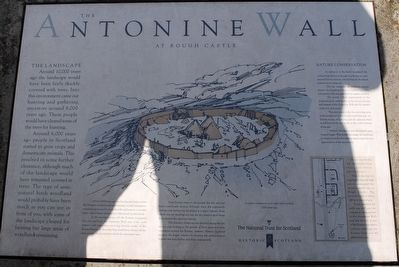 The Antonine Wall at Rough Castle Marker 1 image. Click for full size.