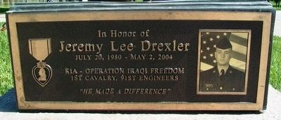 Jeremy Lee Drexler Marker image. Click for full size.