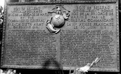 Belleau Wood Marine Memorial Marker image. Click for full size.
