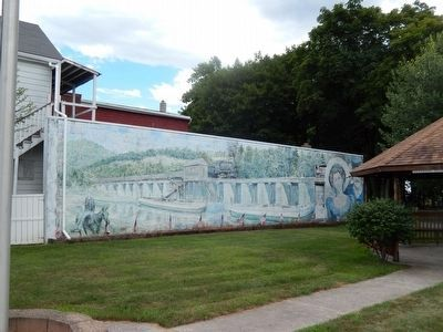 Veterans Park-Mural of Schuylkill Canal image. Click for full size.