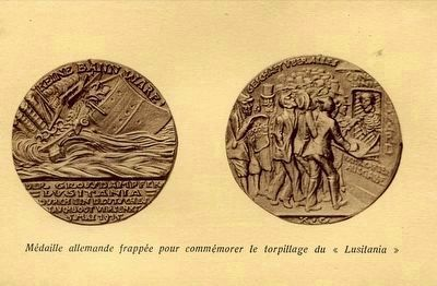 Germans S.S. Lusitania Medallion <i>(Click on image to enlarge.)</i> image. Click for full size.