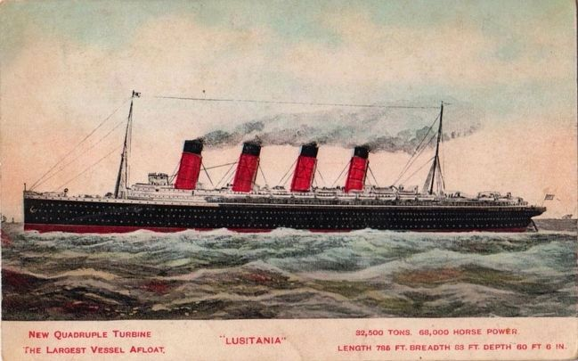 <i>S.S. Lusitania</i> image. Click for full size.