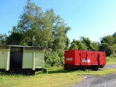 Miners Memorial Park-Dynamite Rail Car image. Click for full size.