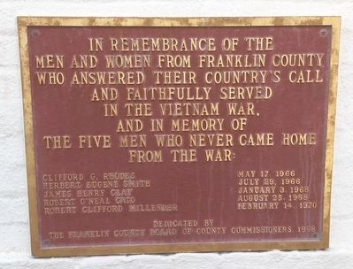 Fort Coombs - Franklin Guards Marker Photo, Click for full size