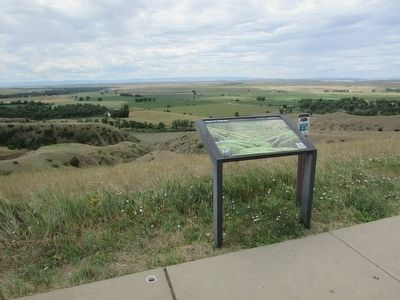 Marker on the Little Bighorn Battlefield image. Click for full size.