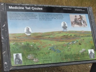Medicine Tail Coulee Marker image. Click for full size.