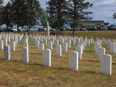 Custer National Cemetery image. Click for full size.