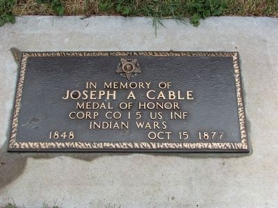 Grave of Cpl. Joseph A. Cable image. Click for full size.