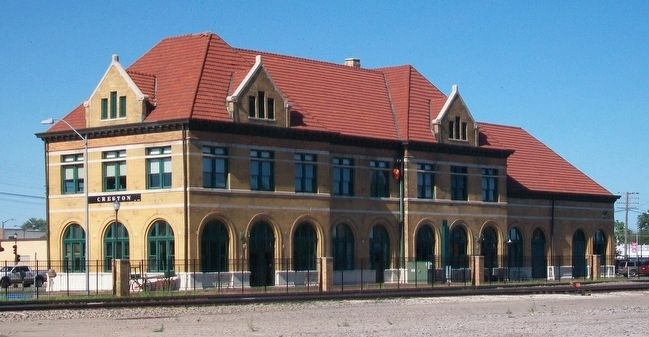 Chicago, Burlington, and Quincy Railroad Depot image. Click for full size.