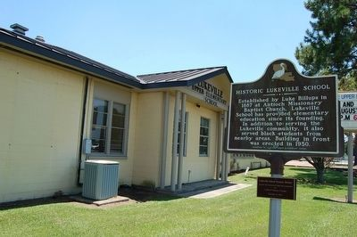 Historic Lukeville School and Marker image. Click for full size.