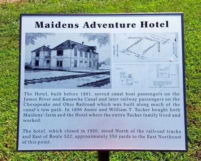 Maidens Adventure Hotel Marker image. Click for full size.