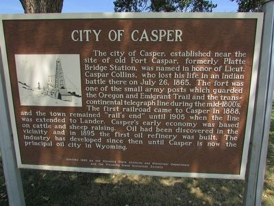 City of Casper Marker image. Click for full size.