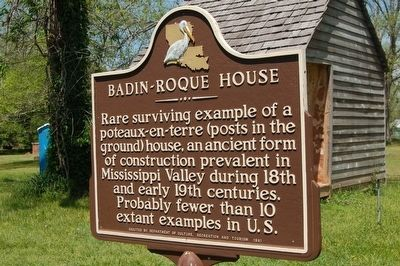 Badin - Roque House Marker image. Click for full size.