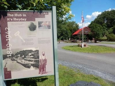 The Hub in it's Heyday Marker with the Pavilion in the background image. Click for full size.