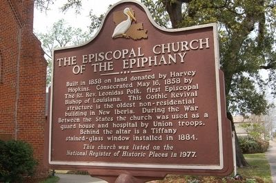 The Episcopal Church Of The Epiphany Marker image. Click for full size.