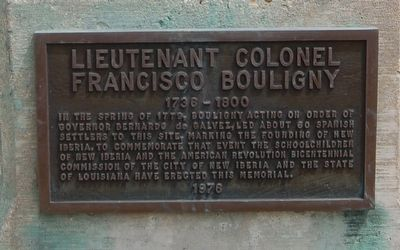 Lieutenant Colonel Francisco Bouligny Marker image. Click for full size.