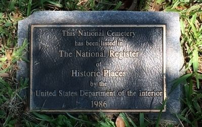 National Register of Historic Places plaque. image. Click for full size.