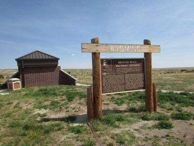 Bridger Road – Waltman Crossing Marker image. Click for full size.