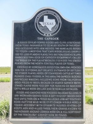 The Caprock Marker image. Click for full size.