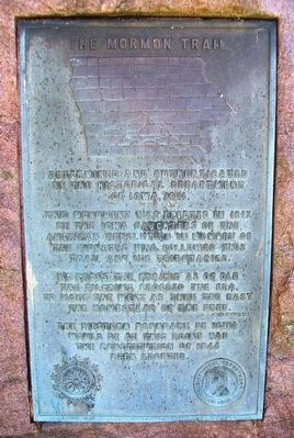 The Mormon Trail Marker image. Click for full size.