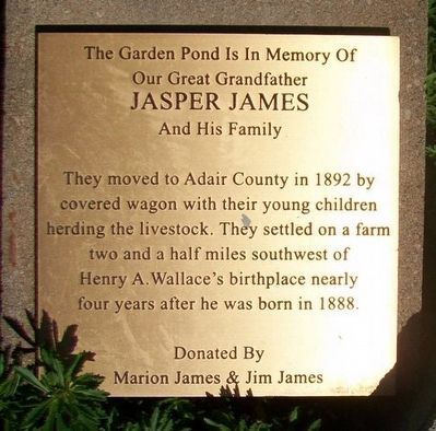 Jasper James And His Family Marker image. Click for full size.