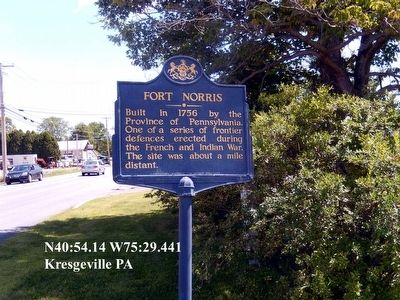 Fort Norris Marker image. Click for full size.