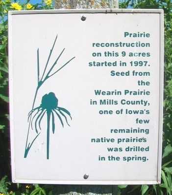 Native Prairie Planting Marker image. Click for full size.