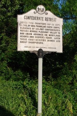 Confederate Retreat Marker image. Click for full size.