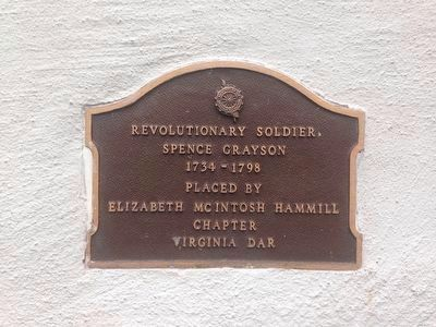 Revolutionary Soldier Spence Grayson Marker image. Click for full size.