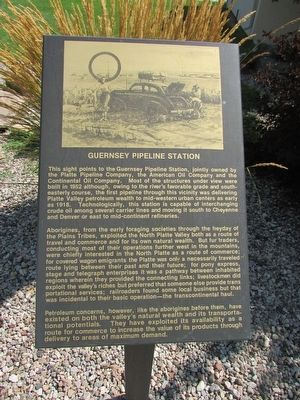 Guernsey Pipeline Station Marker image. Click for full size.