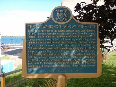 The Forwarding Trade at Prescott Marker image. Click for full size.