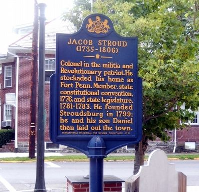 Jacob Stroud Marker image. Click for full size.