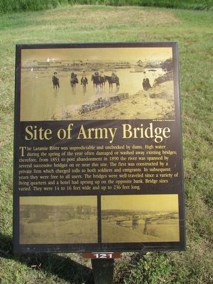 Site of Army Bridge Marker image. Click for full size.