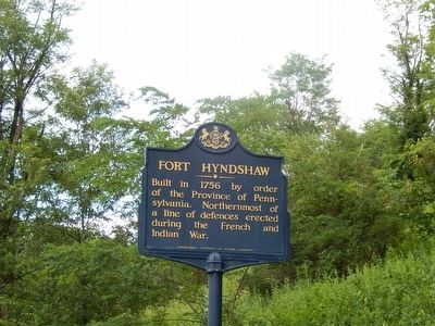Fort Hyndshaw Marker image. Click for full size.