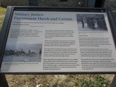Military Justice: Punishment Harsh and Certain Marker image. Click for full size.