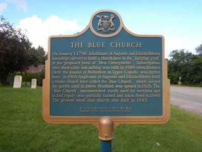 The Blue Church Marker image. Click for full size.