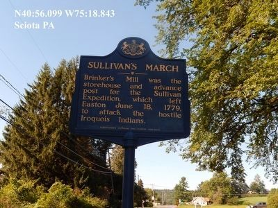 Sullivan's March Marker adjacent to the Plaque image. Click for full size.