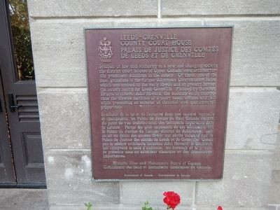Leeds-Grenville County Court House Marker image. Click for full size.
